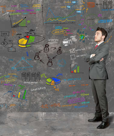 project manager: Businessman think on new ideas Stock Photo