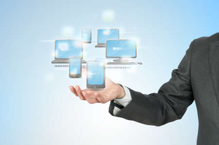 New technology cloud compute concept Foto de archivo