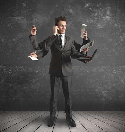 iş adamı: çok görevler tarafından vurguladı işadamı