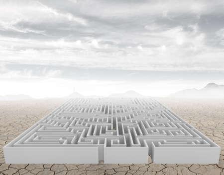 A complicated maze in a arid desert