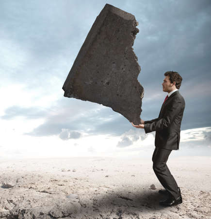 brunt: Concept of a businessman that challenges the difficulties