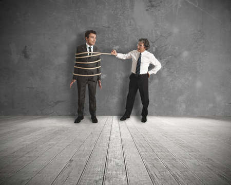 unfair: Concept of unfair competition in business Stock Photo