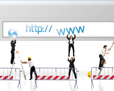 web site: Concept of website under construction