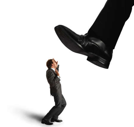 heaviness: Businessman oppressed by the boss