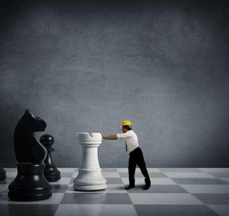 �checs: Concept de la strat�gie dans les entreprises Banque d'images