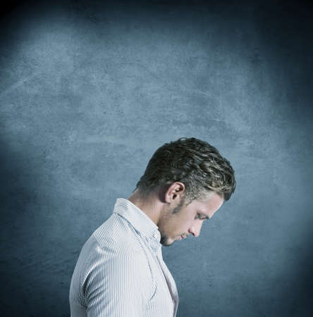 distressing: Concept of a depressed man