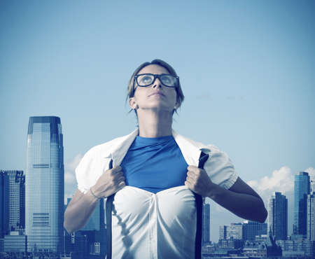 super woman: Concept of Be super in business