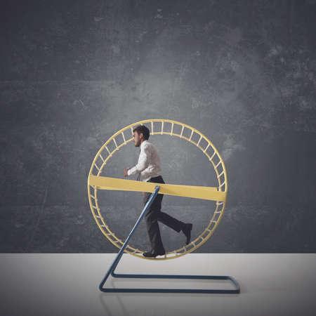 Concetto di routine quotidiana di un uomo d'affari