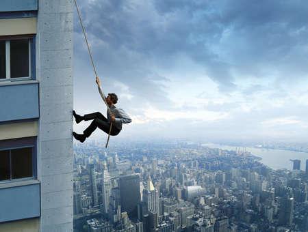 escalada: Conceito de carreira no emprego Banco de Imagens