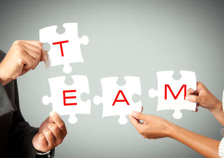 Concpet of team that works together photo