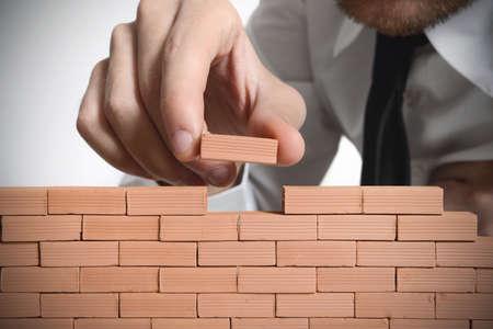 strategie: Concept of build Neugesch�ft Lizenzfreie Bilder