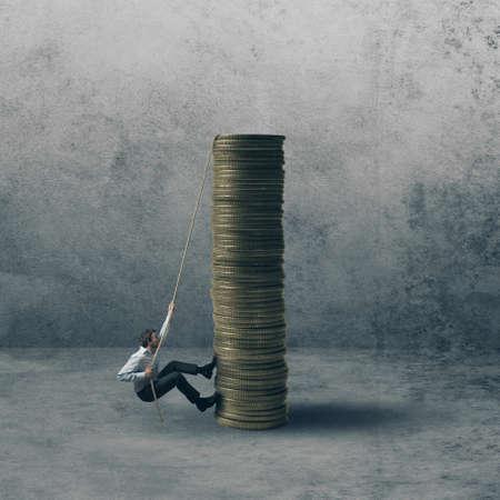 renta: Concepto de la carrera de un hombre de negocios