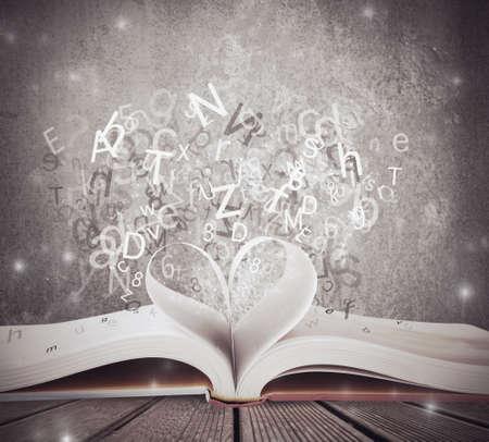 CZoncept de l'amour pour le livre