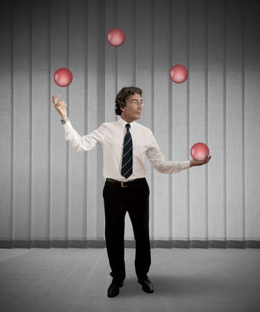 Easy business of an juggler businessman Stock Photo - 16252828