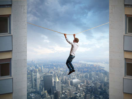 risky job: Businessman and difficulties in business