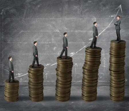 earn: concepto de �xito en los negocios y el aumento de