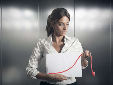 unfavorable: Concept of crisis and failure in business Stock Photo
