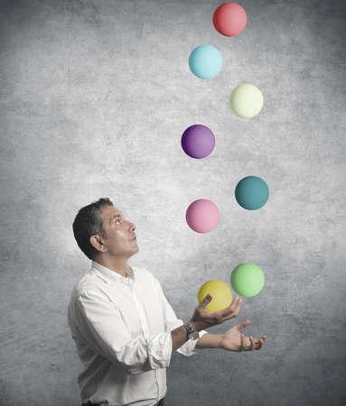 juggler: Easy business concept with juggler businessman Stock Photo
