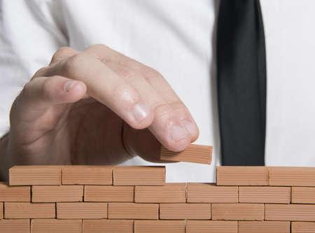 Concept van het opbouwen van een bedrijf Stockfoto