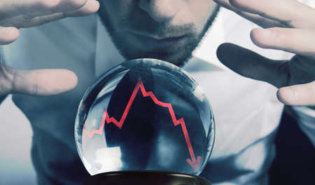 Concept of forecasts of the financial crisis photo