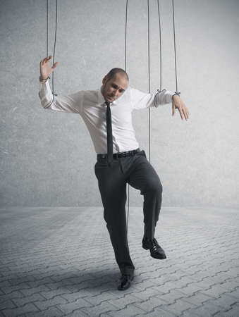 powerless: Concept of controlled businessman
