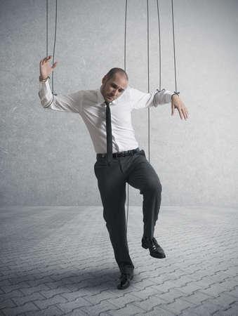 esclavo: Concepto de empresario controlada Foto de archivo