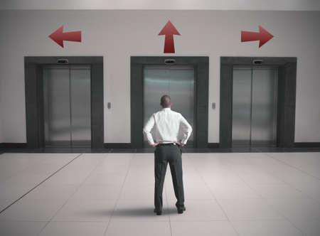Keuzes van een zakenman begrip Stockfoto