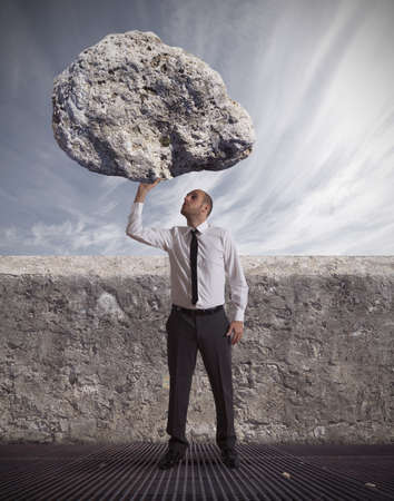 exito: concepto de �xito en los negocios y la determinaci�n duro Foto de archivo