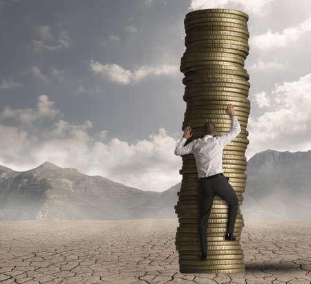 金持ち: キャリアおよび仕事で野心の概念