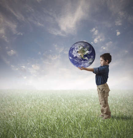 protect earth: Young man try to save the world