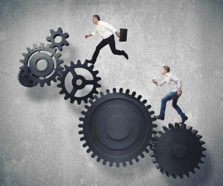 Concept van het bedrijfsleven mechanisme systeem