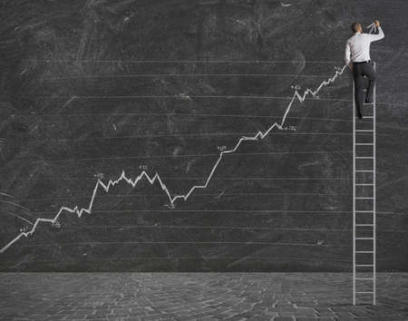 optimist: Concept of a positive statistical strend Stock Photo