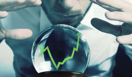 magic ball: Concept of forecasts of the financial crisis