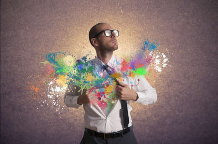 Concept of creativity and power in business Stock Photo