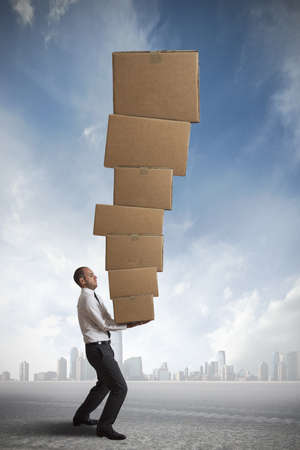 danger box: concept of hard career in the business Stock Photo