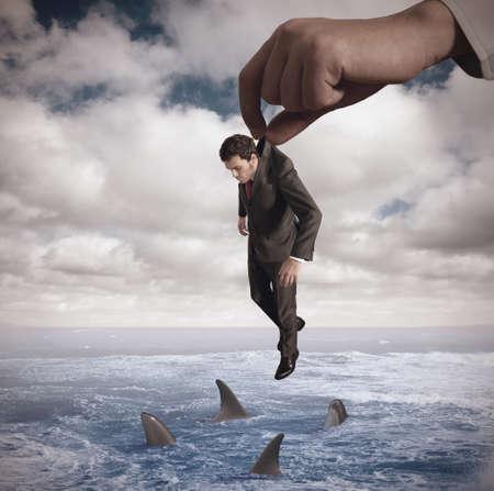 fear of failure: Concept of failure of a businessmamn
