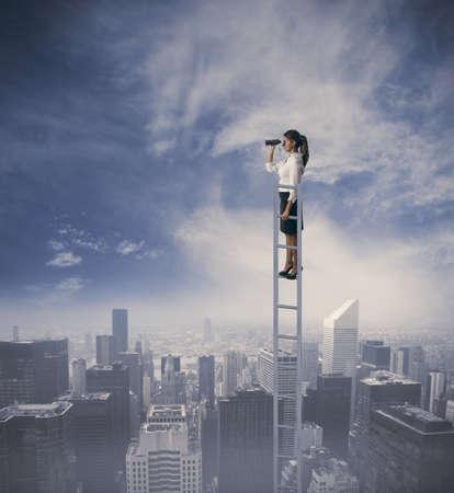 soledad: Empresaria en busca de nuevas oportunidades de empleo Foto de archivo