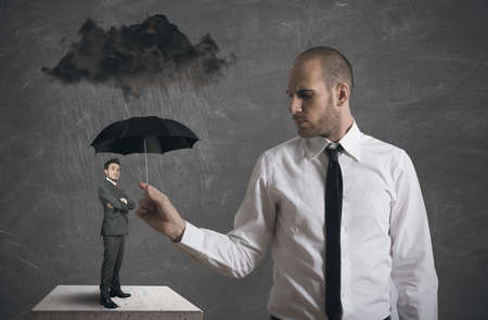 Concept of protect the business Stock Photo - 17244923
