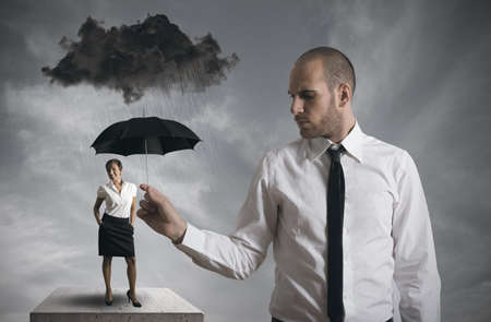 Concept of protect the business Stock Photo - 17244925