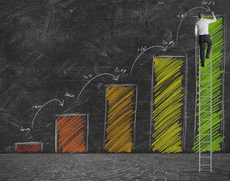 tendencja: Pojęcie statystyki prognozę wzrostu Zdjęcie Seryjne