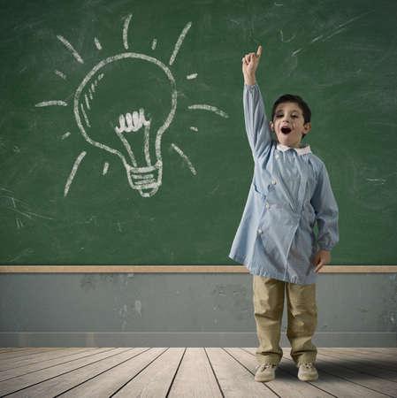 happy children: Happy child with a new idea