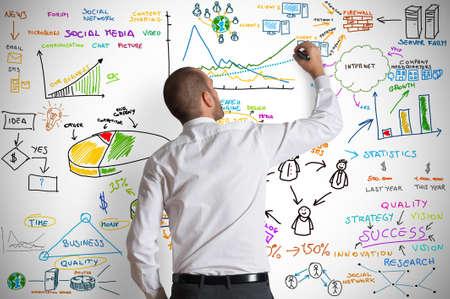 network marketing: Concepto de negocio moderno Foto de archivo