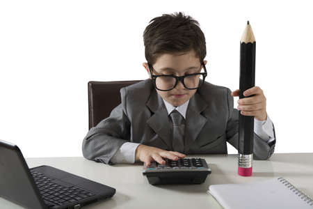 Concept of failure of a young businessman photo