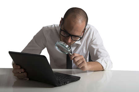 business software: Concept of software programmer at work Stock Photo
