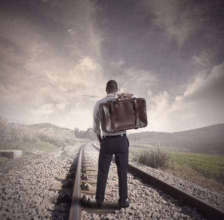 on the move: Concept of travel for business Stock Photo