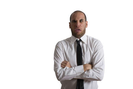 Concept of disgusted businessman Stock Photo - 17563144