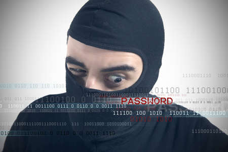 unmask: Hackers reveal a password concept Stock Photo
