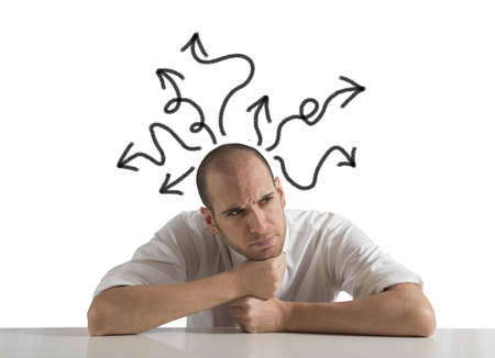 sorun: Bir işadamı kavramı Seçimleri Stok Fotoğraf