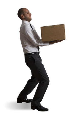 hard: Concept van harde carrière in het bedrijfsleven Stockfoto