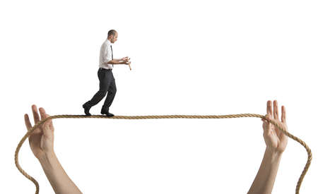risky job: Risks and challenges of business life concept